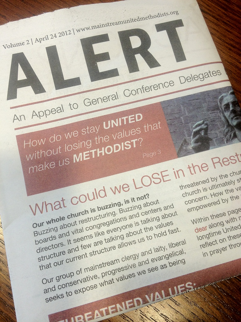 ALERT publication from Mainstream United Methodists
