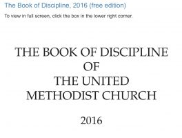Book of Discipline 2016