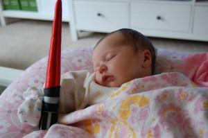 baby lightsaber