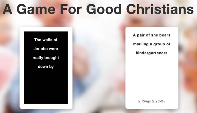 cards against humanity for twisted christians