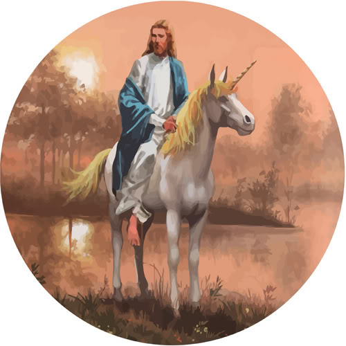 Jesus on a Unicorn