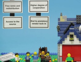 Open Source explained in LEGO