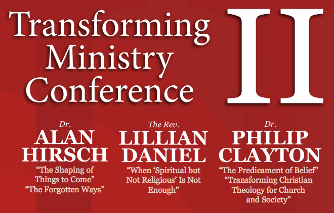 What would you ask Alan Hirsch, Lillian Daniel, or Philip Clayton?